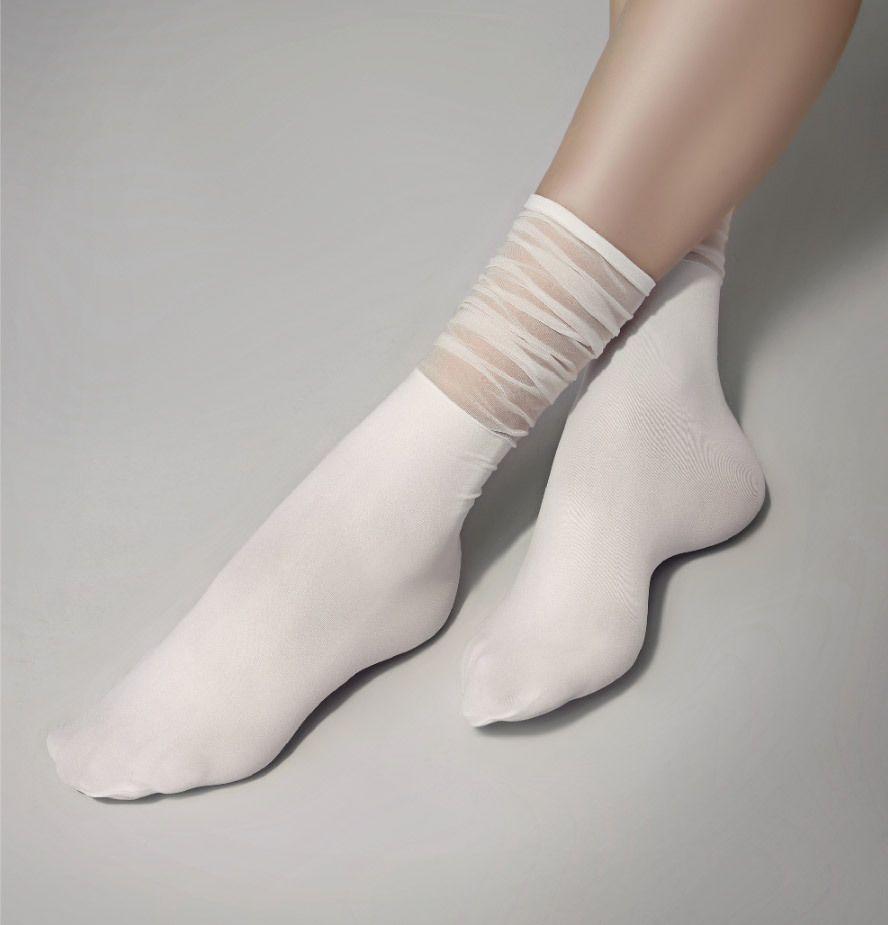 Classy Lovely See-Through Socks (Hosiery) Special Knee Highs Shirring Stocking #Flolynz