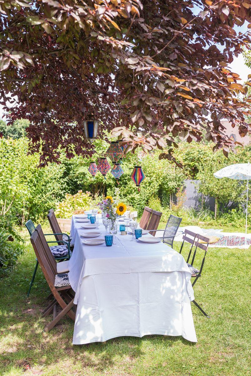 Gartenparty Deko Und Ein Leckeres Rezept Als Vorspeise Fur S Buffett Gartenparty Deko Garten Partydekorationen Gartenparty