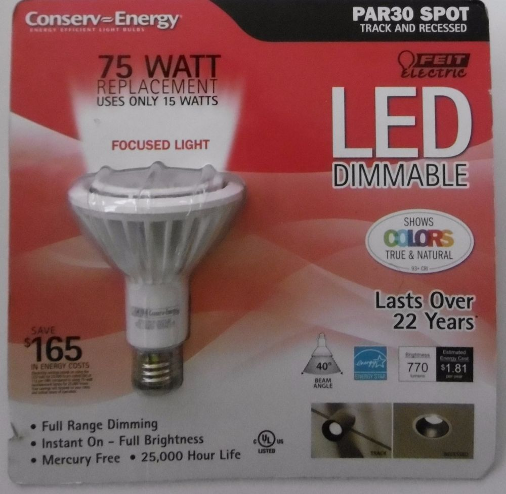 Feit Par30 Led 75 Watt Dimmable Replacement 770 Lumens Focused
