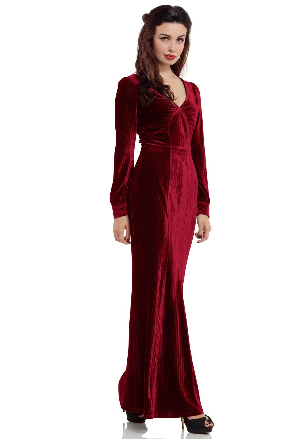Olive s red evening gown vintage dress in pinterest