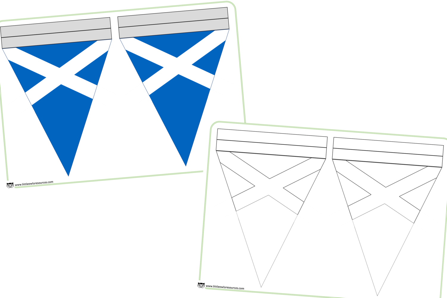 FREE Scottish Flag Bunting printable Early Years/EY (EYFS