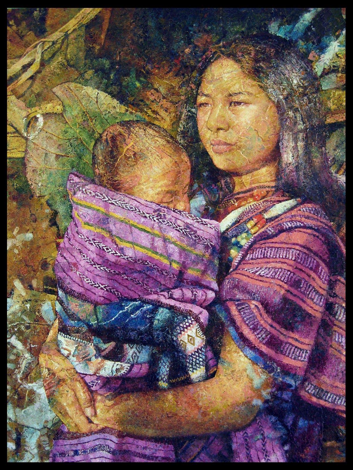 Jef Cablog Filipino Art Philippine Art Motherhood Painting