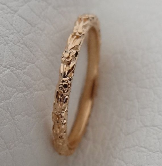 Pin By Happiest Pretender On I Do In 2020 Milgrain Wedding Bands Flower Wedding Band Fine Jewels