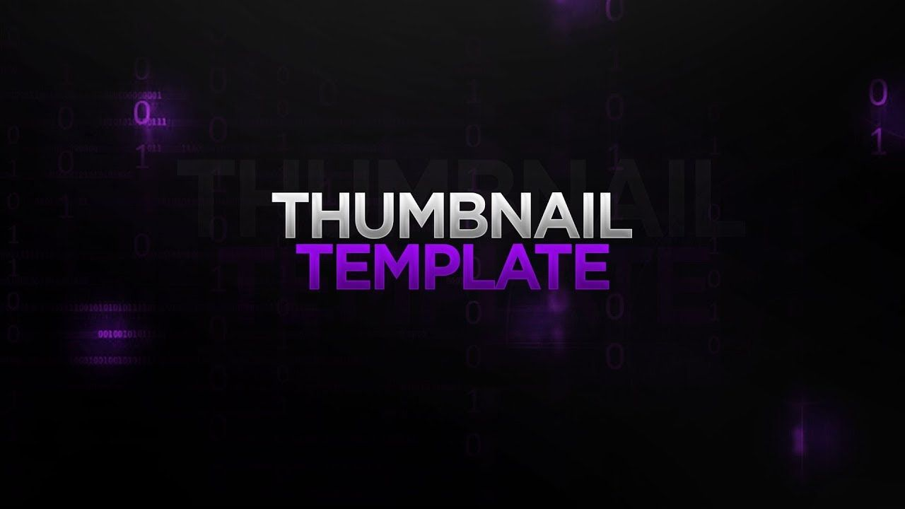 Free Gfx New Thumbnail Template Free Download How To Make Your