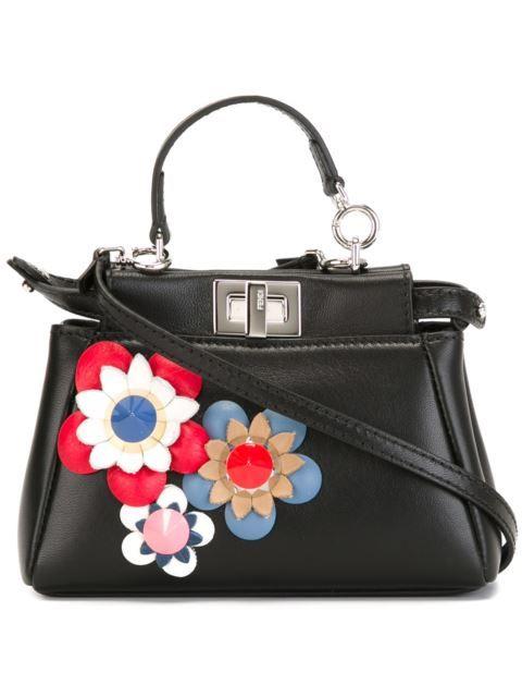 FENDI Micro 'Peekaboo' Crossbody Bag. #fendi #bags #shoulder bags #hand bags #leather #crossbody #