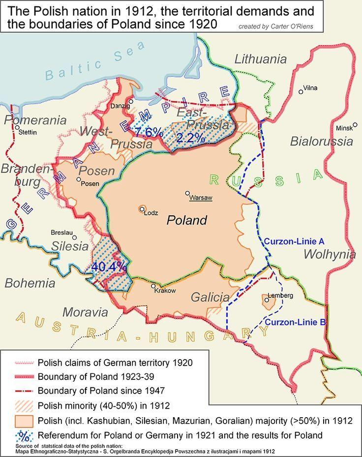 Poland map | Maps + Genealogy | Poland map, Poland history, Map