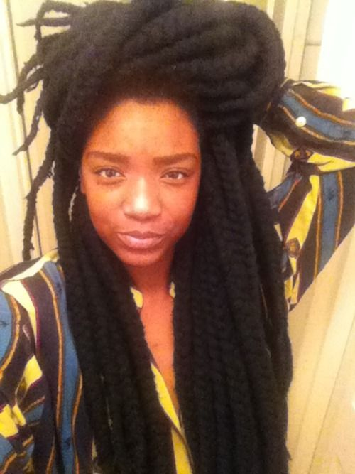 Pin By Naturallycurly Com On Natural Hair Styles But Mostly Locs Yarn Braids Styles Natural Hair Styles Hair Styles