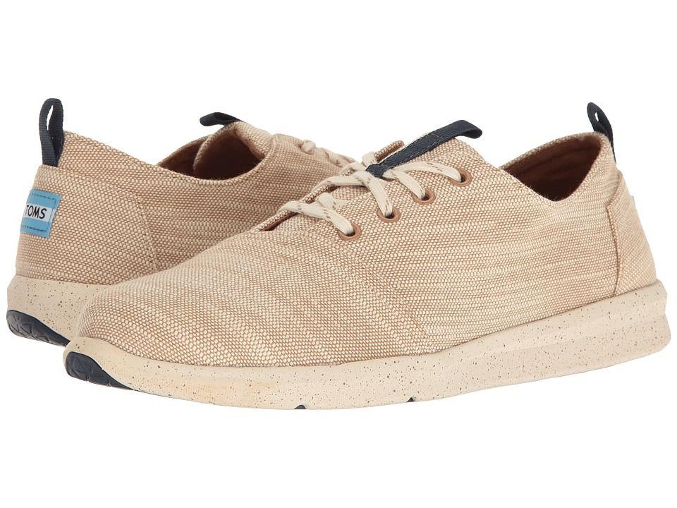 2ad9c1dc1de TOMS TOMS - DEL REY SNEAKER (DESERT TAUPE SLUBBY LINEN) MEN S LACE UP  CASUAL SHOES.  toms  shoes