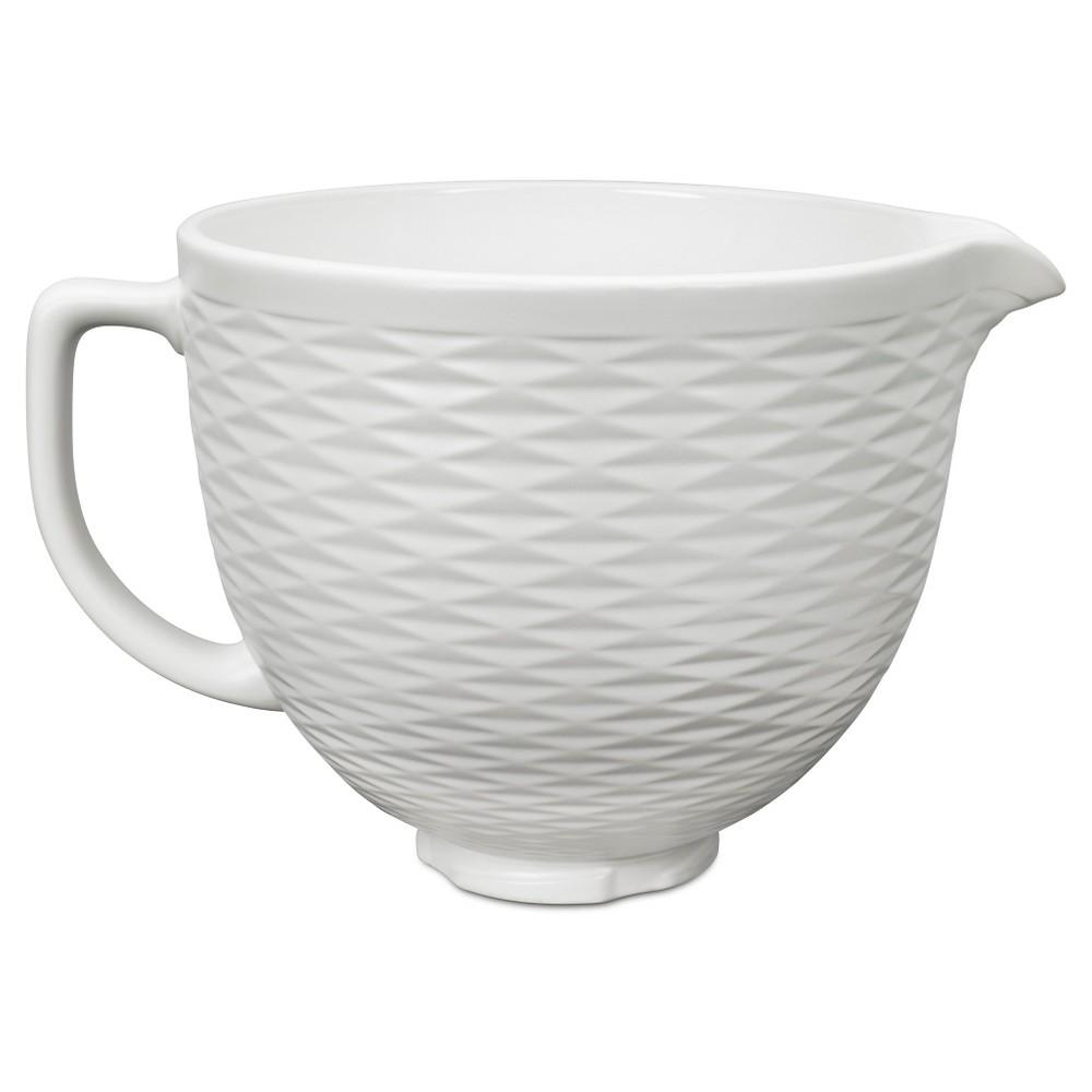 Kitchenaid 5 quart embossed ceramic bowl ksmcb5tlw