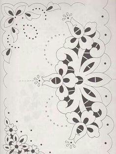 Whitework/cutwork pattern