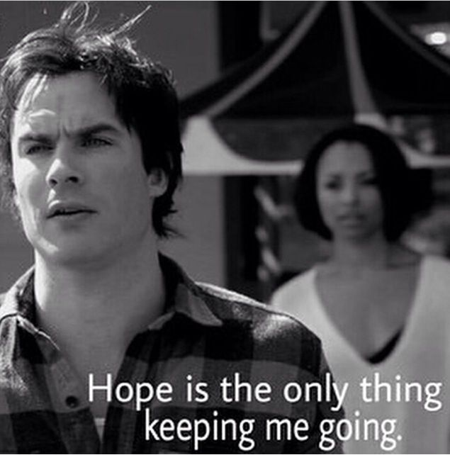 """#TVD The Vampire Diaries 6x3  Damon & Bonnie  """"Hope is the only thing keeping me going."""""""