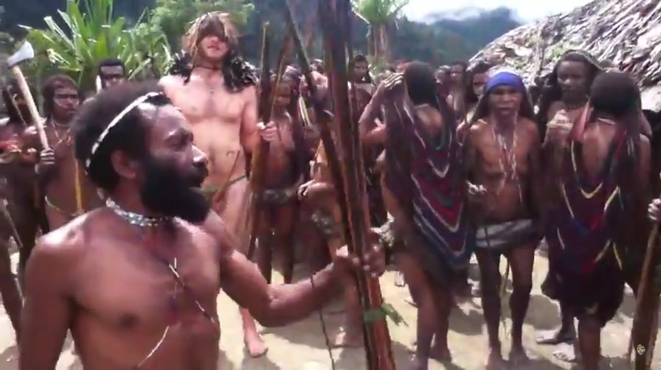 naked tribe White man dancing naked with an isolated tribe, no one knows about it