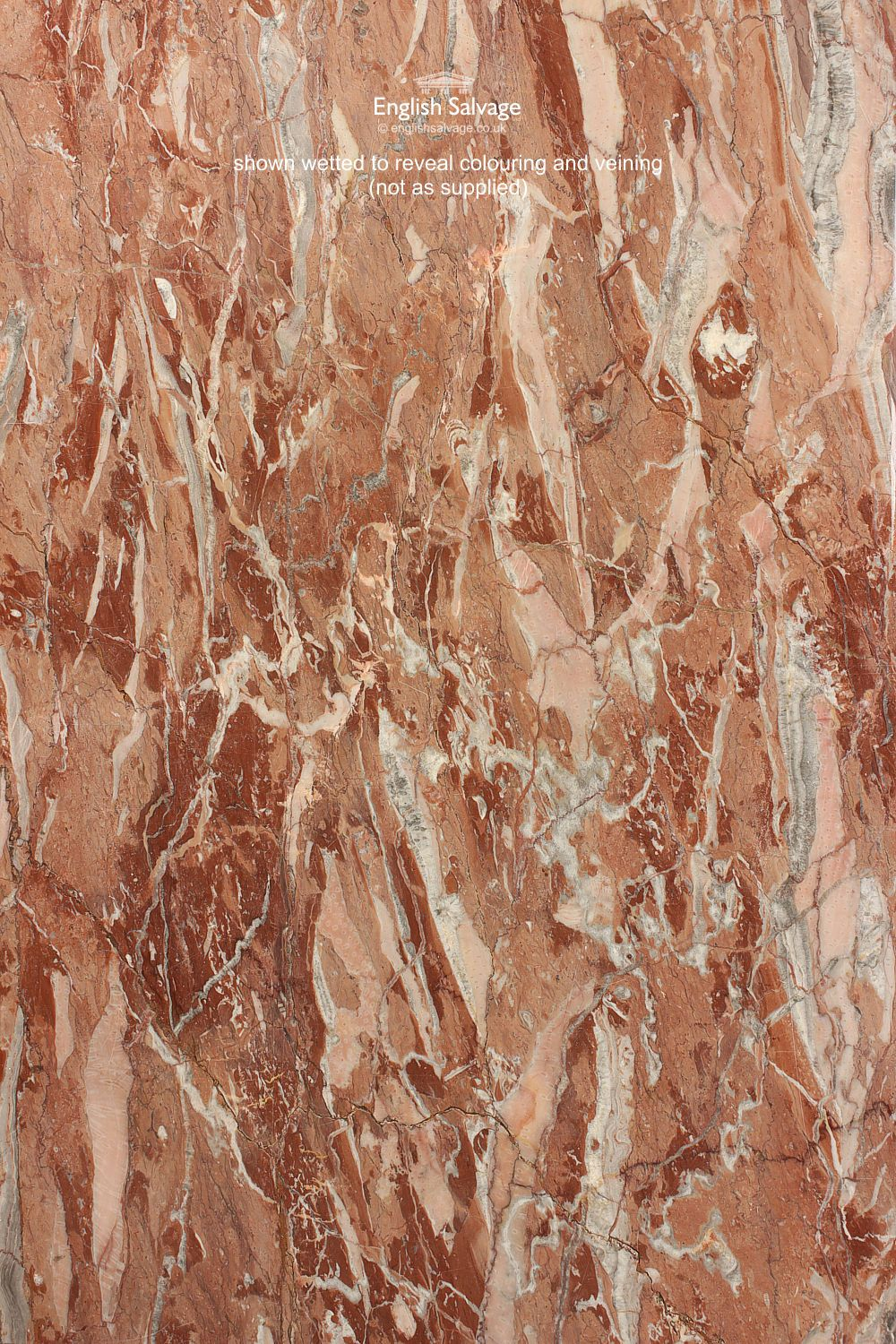 Salvaged Red Marble Slabs