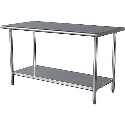 Benches 183321 Stainless Steel Top Utility Table High Workbench Prep