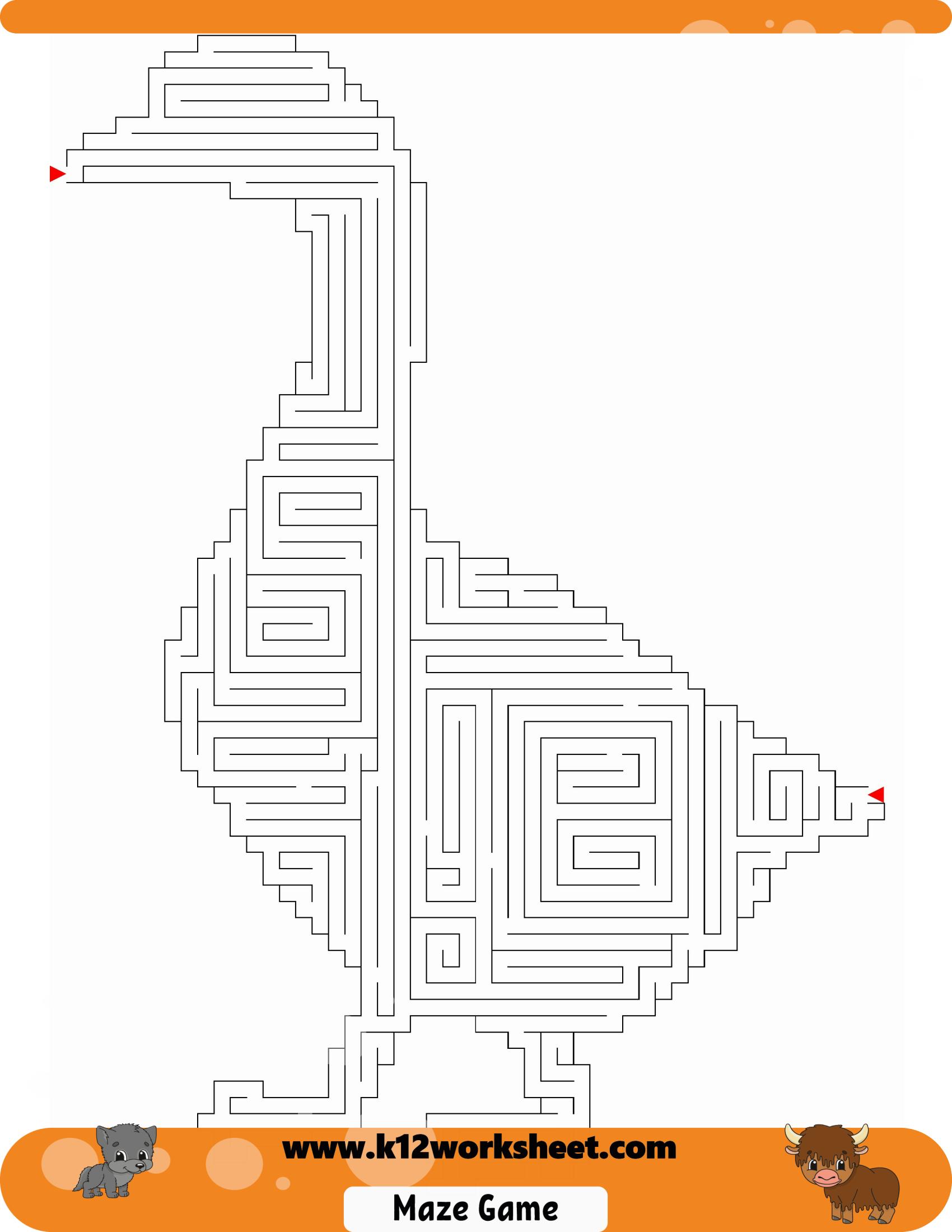 Goose Maze For Kids