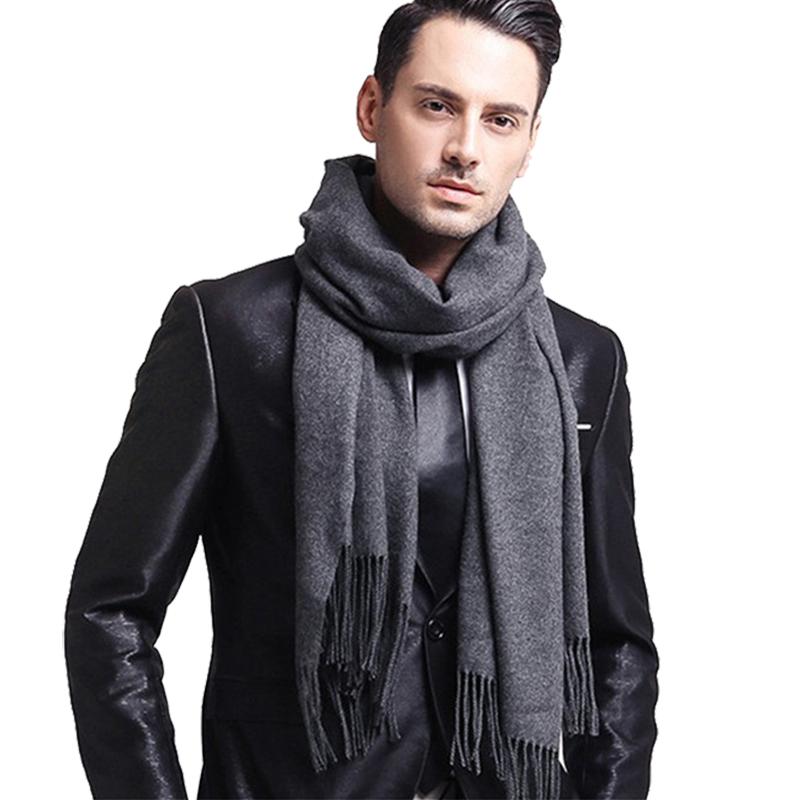 Azul DIAK Bufanda para Hombre Bufanda de Invierno Elegante Bufanda de Negocios Cachemir cl/ásico pa/ñuelo para el Cuello chales Liso