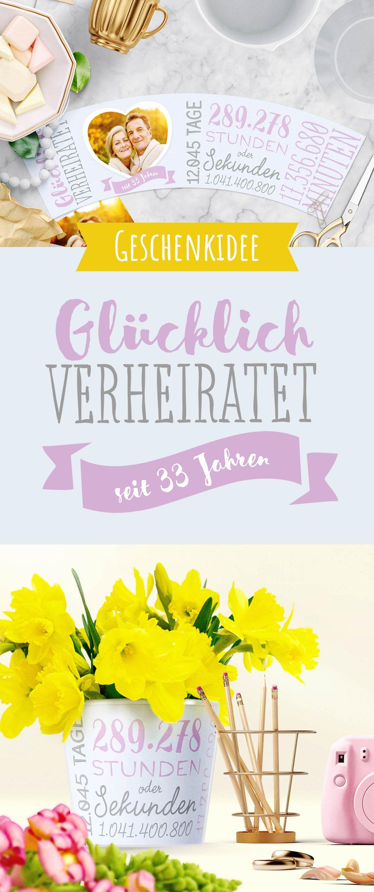 33 Hochzeitstag Zinnhochzeit Schönes Geschenk Zum 33
