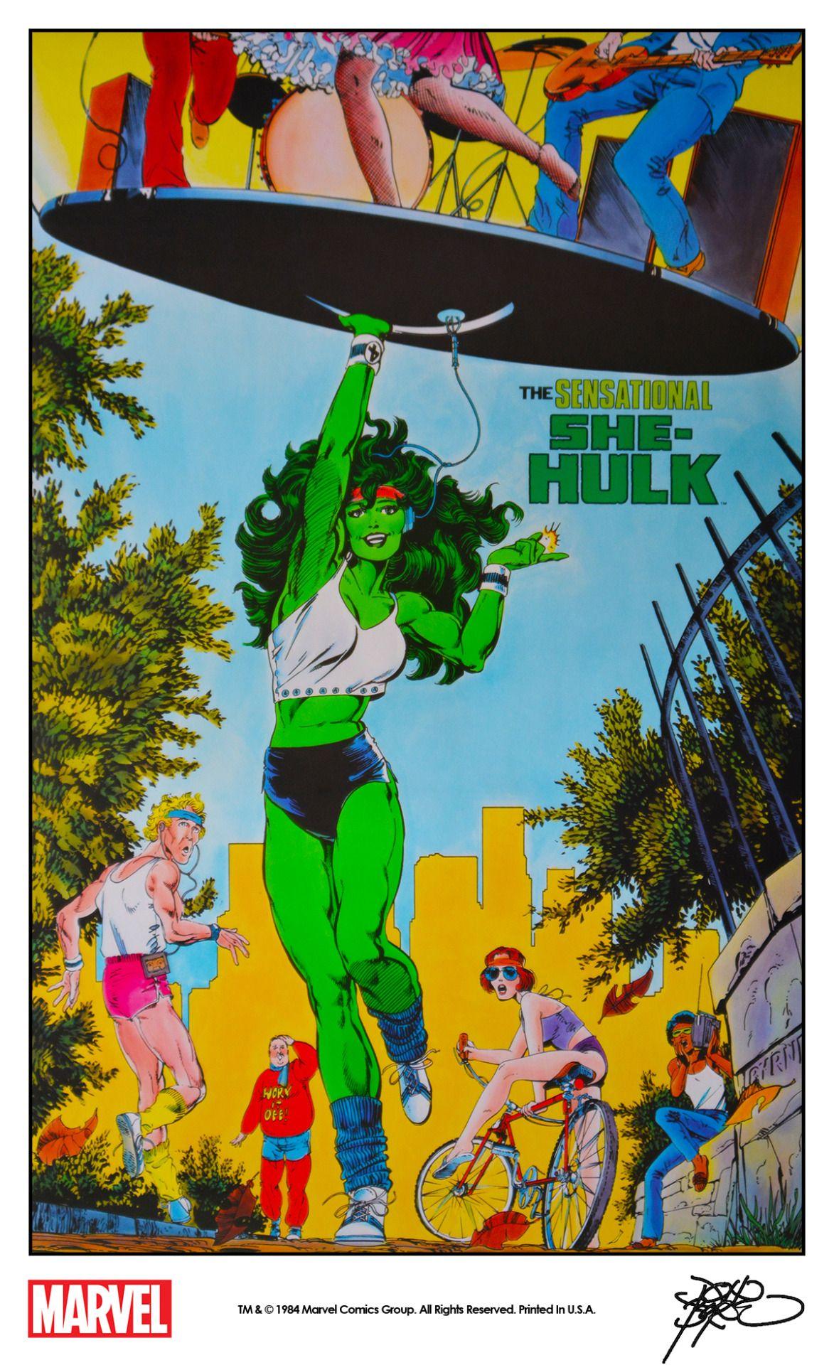 The Sensational She-Hulk poster by John Byrne (1984) | She-Hulk ...