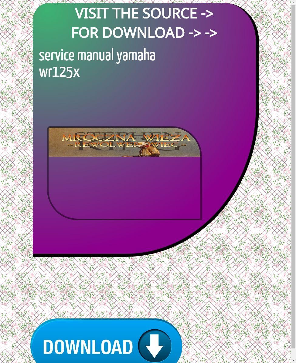 Service Manual Yamaha Wr125x