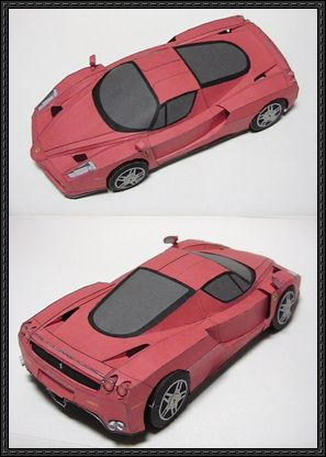 Enzo Ferrari Paper Car Free Vehicle Paper Model Download