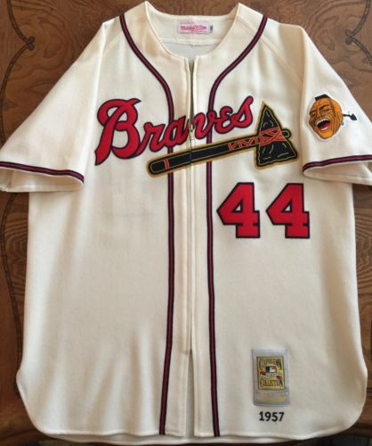 quality design faf18 7f86a Mitchell & Ness AUTHENTIC Hank Aaron wool 1957 Milwaukee ...