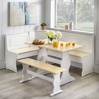 Simple Living Knox Nook Dining Set (White/Natural)