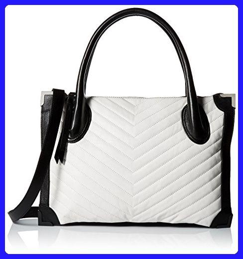 Foley + Corinna Frankie Satchel, White Quilt Black Trim - Top handle bags ( b868823c8e