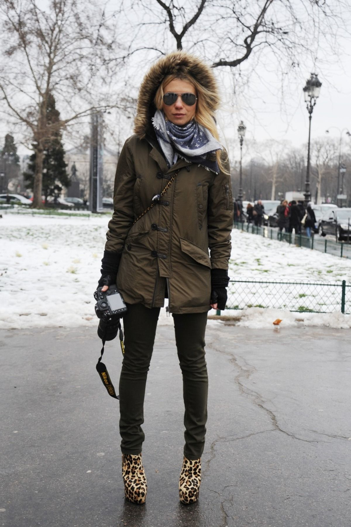 Paris Winter Street Style Street Style Zhanna At Chanel Collection Fall Winter 2013 Paris
