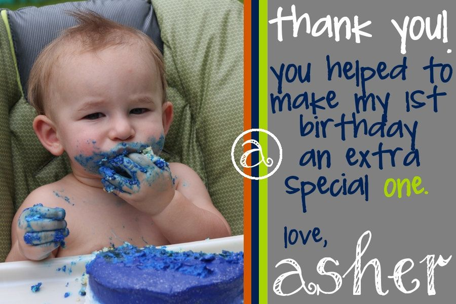 17 Best images about First Birthday Thank You Cards on Pinterest ...