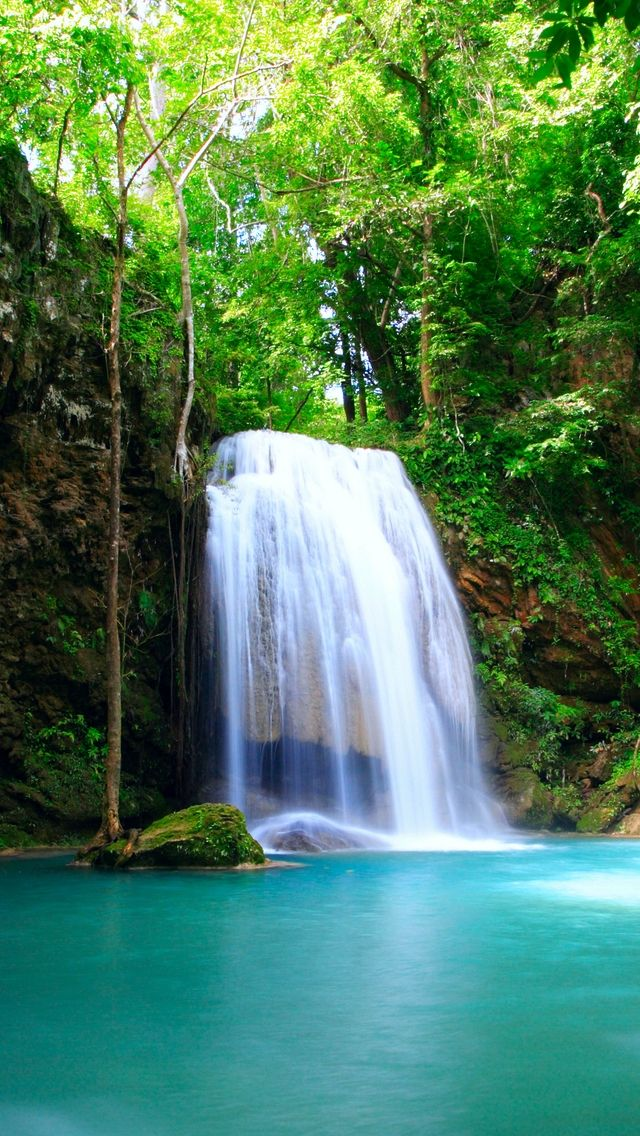 Beautiful Waterfall Iphone Wallpapers Waterfall Wallpaper Waterfall