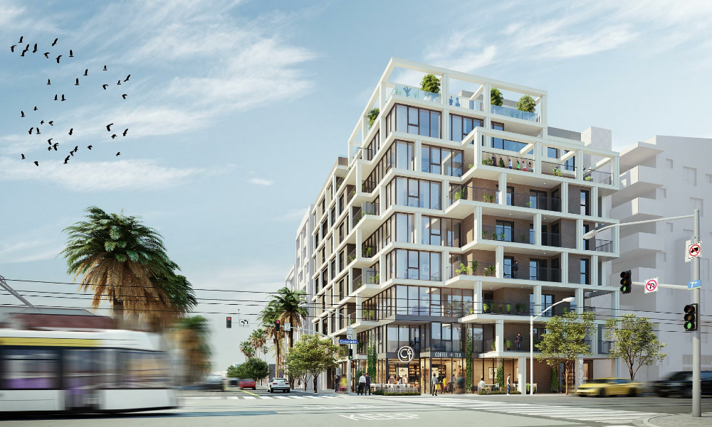 Pin By Ivory Leigh Antoni On Perspective Multifamily Architecture Santa Monica Downtown Apartment