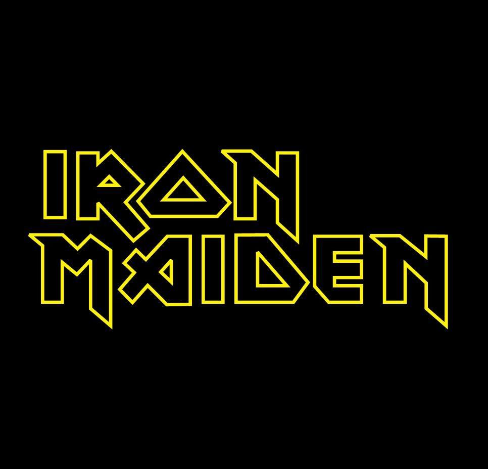 Iron Maiden Rock Band Text Title Logo Logos De Bandas Bandas De Rock Dibujo De Camisa
