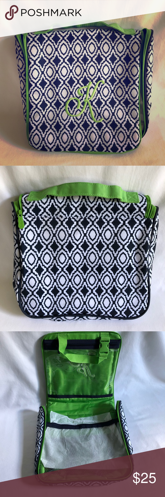 49359540531c Thirty-one 31 Navy Perfect Pendant travel bag Authentic Thirty-one ...