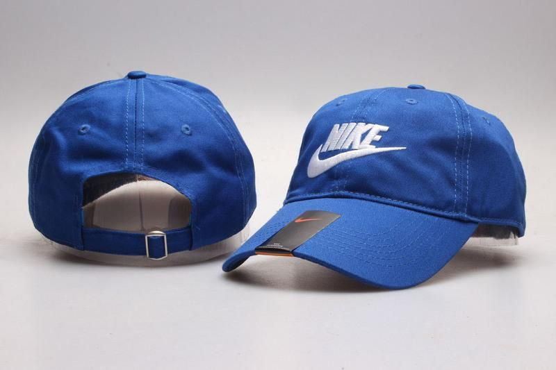 5c292d087c7 Men s   Women s Unisex Nike Heritage 86 Futura Logo Strap Back Adjustable  Baseball Hat - Denim Blue   White