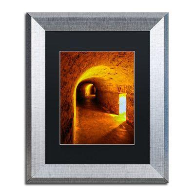 "Trademark Art ""Castillo San Cristobal 2"" by CATeyes Framed Photographic Print Size:"