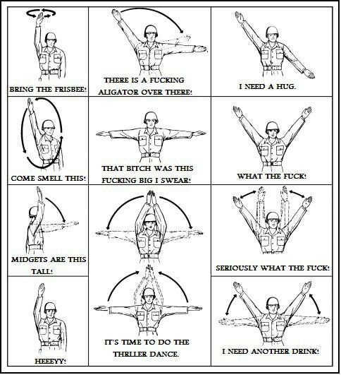 hand and arm signals random funny pinterest usmc and random