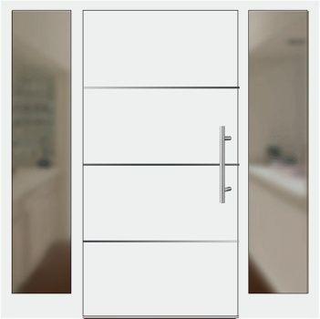 Haustüren mit seitenteil links  Aluminium Haustür Modell 6872-94 weiß mit Seitenteil links und ...