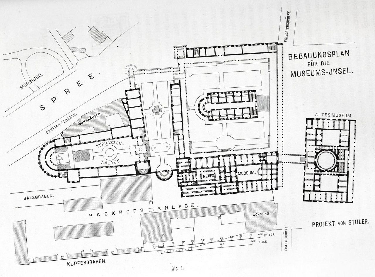 Plan For The Projected Museums On Museum Island Berlin Museum Island Berlin Map