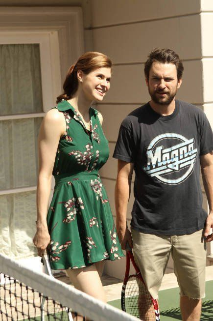 Still Of Charlie Day And Alexandra Daddario In Its Always Sunny In