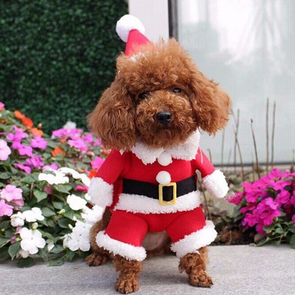 Pet Dog Puppy Christmas Clothes Apparel Santa Claus Costume Outfit ...