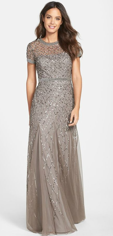 Sequined And Beaded Gowns For The Mother Of The Bride Dresses Groom Dress Mothers Dresses