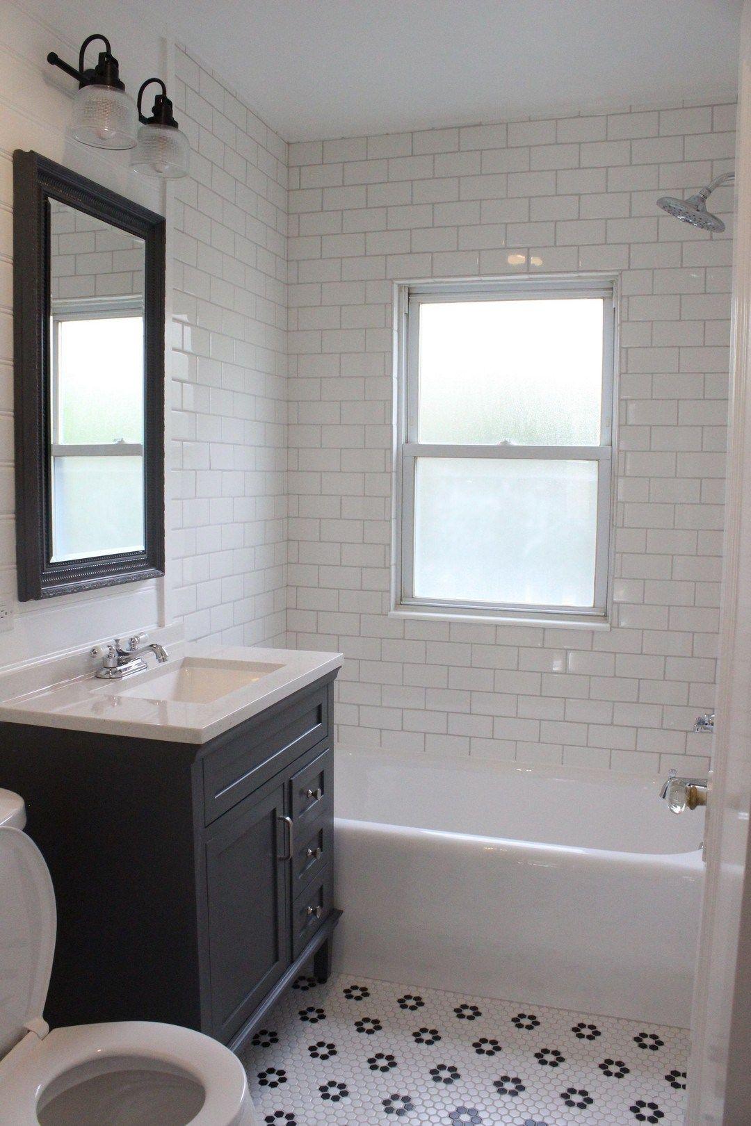 Gorgeous Black And White Subway Tiles Bathroom Design 7 White Bathroom Tiles Small Bathroom Remodel White Subway Tile Shower