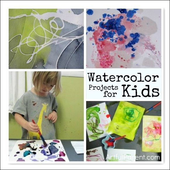 11 Fun Watercolor Projects For Kids Watercolor Projects