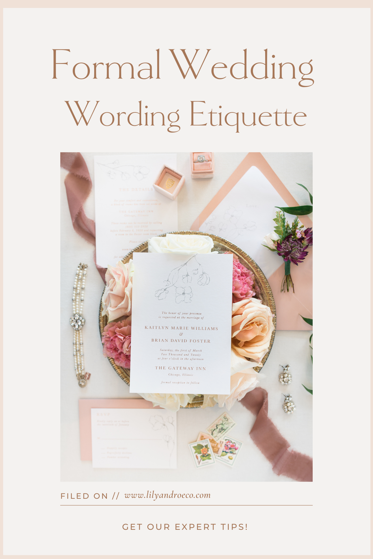 Formal Wedding Invitation Wording Examples & Pro Tips
