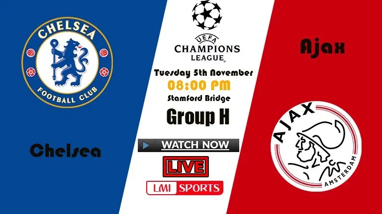 UCL Live Chelsea vs Ajax Soccer Streams Reddit 05 Nov