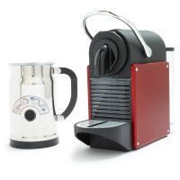99 Nespresso Pixie And Aeroccino Plus Milk Frother Set Carmine