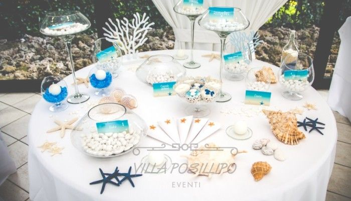 Centrotavola Matrimonio Tema Dolci : Confettata a tema marino per un matrimonio spumeggiante