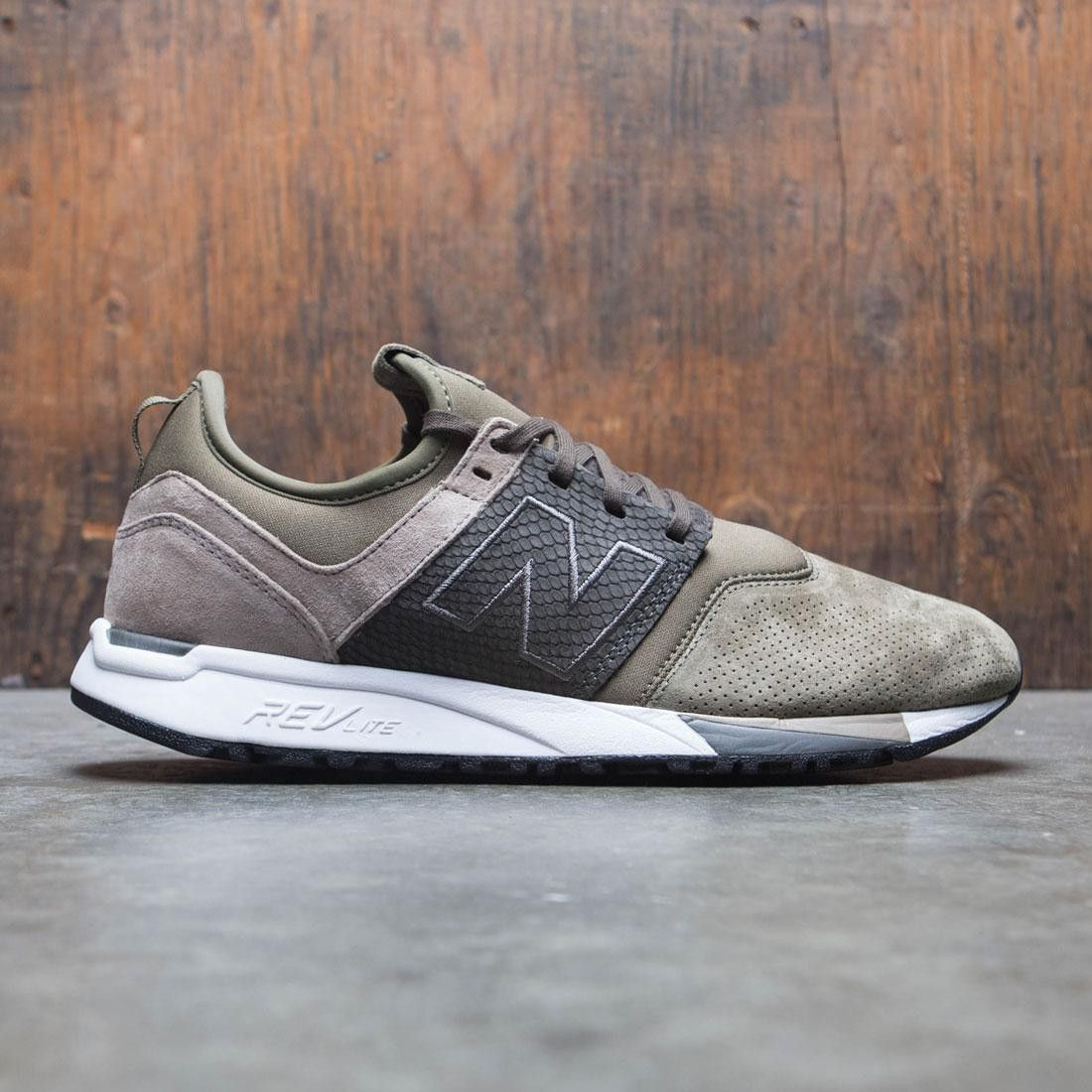 New Balance Men 247 Luxe MRL247RG (olive / military green / beige ...