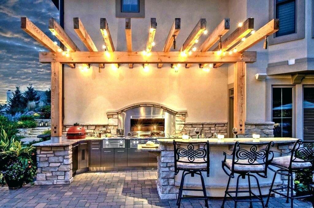 Patio Lightning Cantilevered Pergola Outdoor Kitchen Lighting Outdoor Patio Lights Patio Design