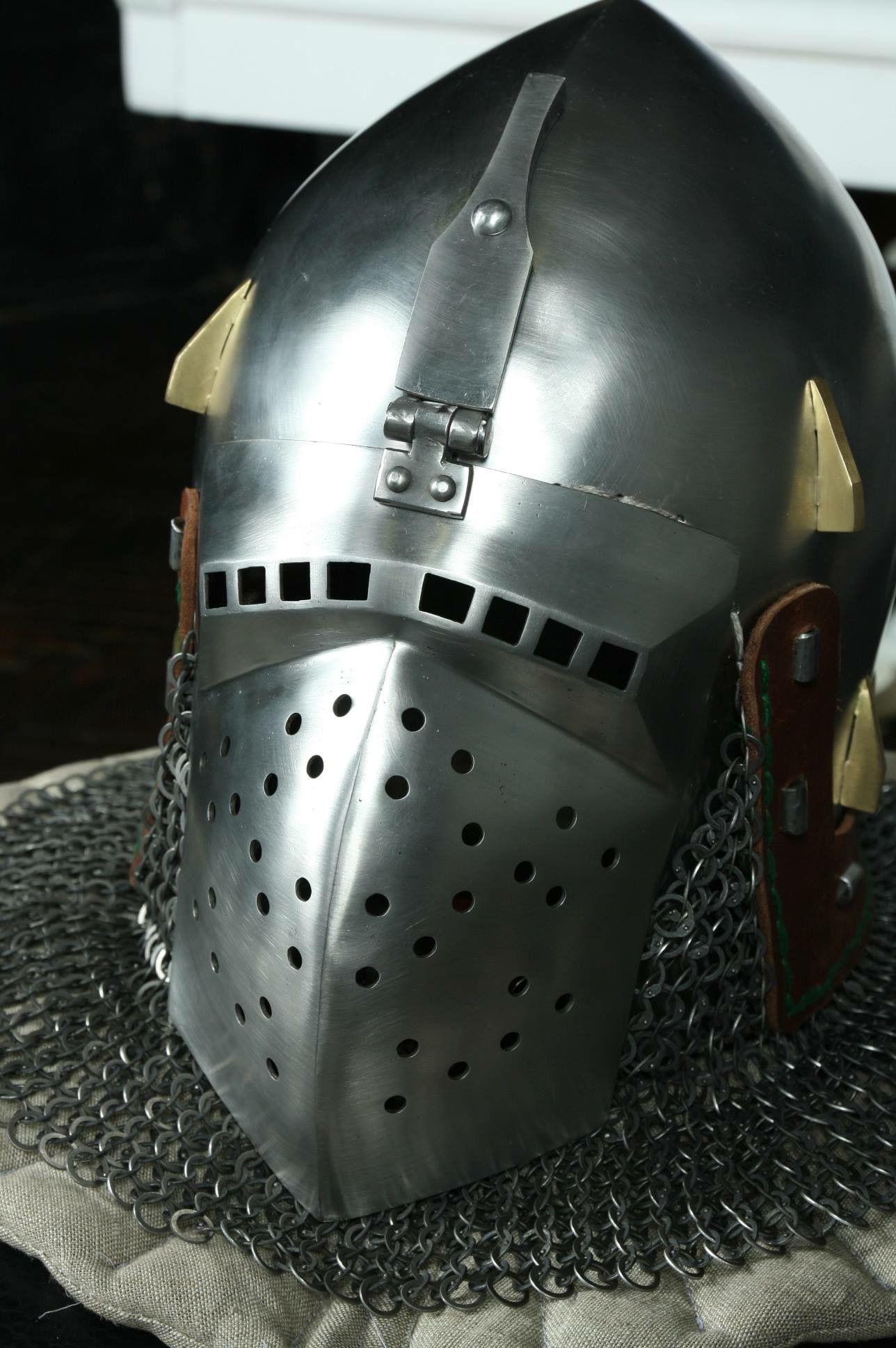 Bascinet of stefano lombardi 14th italian armor helmet